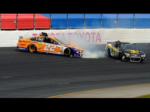 Joey Logano Crash @ 2014 NASCAR Sprint Cup Loudon