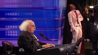 America's Got Talent S09E06 Ray Jessel 84 Year Old performs Must See Hilarious Original Song