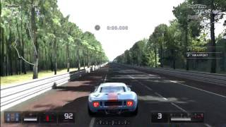 Gran Turismo 5 Drag Races: Ford GT40 Vs. Ford GT LM Race Car