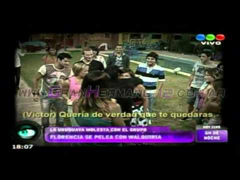 La pelea de Florencia y Walquiria - Gran Hermano 2012 Argentina