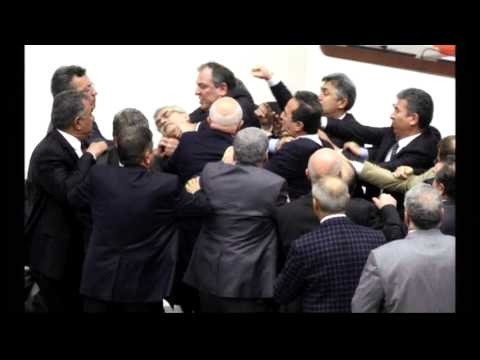 6149WD TURKEY-PARLIAMENT BRAWL STILLS