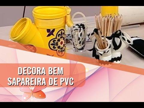 Dica de Artenasato - Sapateira com cano de PVC (01/05/2014)