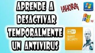 Como Desactivar Temporalmente Un Antivirus Eset Smart