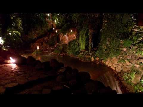 Kampung Daun @Night - Our Saung by the waterfall