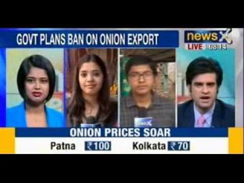 Common man hit by rising Onion prices, touch record high of Rs. 100/kg - NewsX