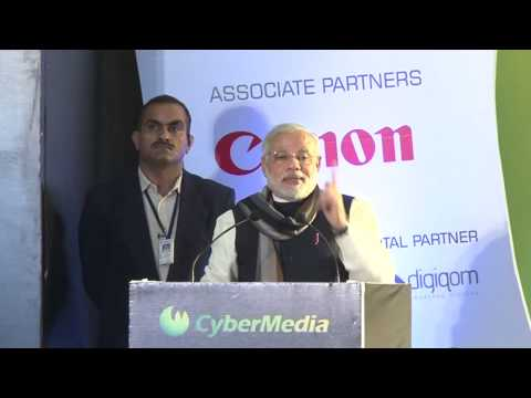 LIVE: Narendra Modi addressing at the CyberMedia ICT Business Awards 2013