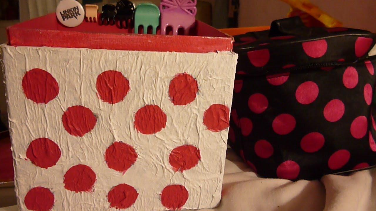 Como decorar una caja de cart n f cil youtube - Decorar con cajas de carton ...