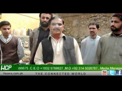 People of Kakul protesting against Water Shortage in Village - Report by March 2012 HCP