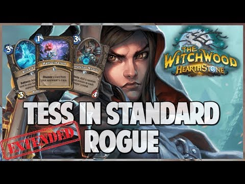 Tess in Standard Rogue | Extended Gameplay | Hearthstone | The Witchwood