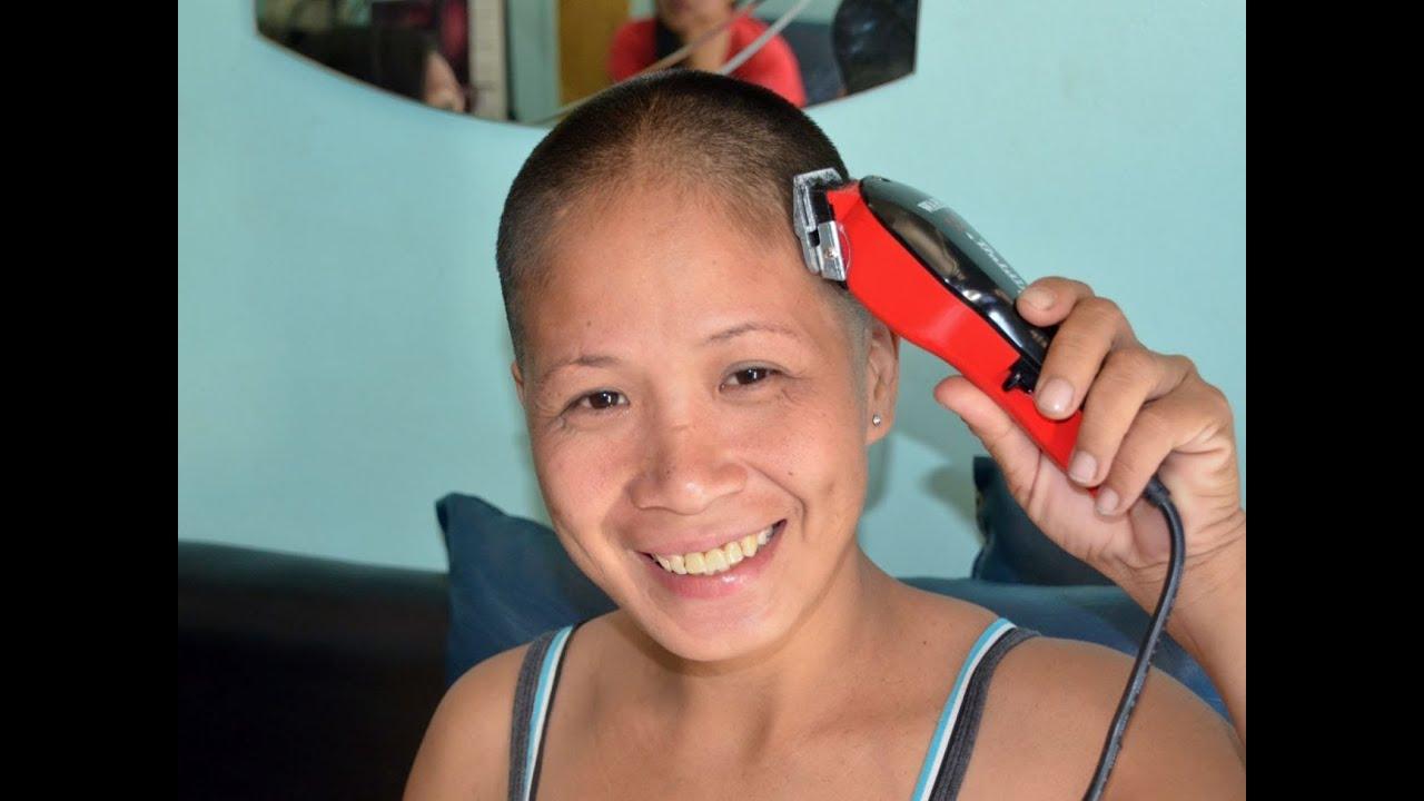 Military haircut woman - YouTube