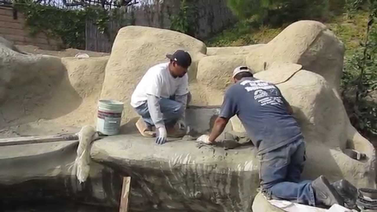 Koi Pond Construction Part 7 Faux Artificial Boulders