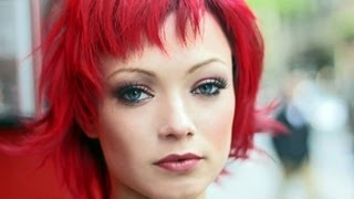 Long To Short Hair Makeovers Bright Red Hair How To Cut