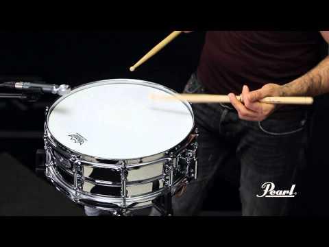 Pearl Sensitone Elite Steel 14x5 Snare Drum