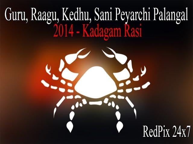 Kadagam Rasi | Guru, Raagu, Kedhu, Sani Peyarchi Palangal - 2014