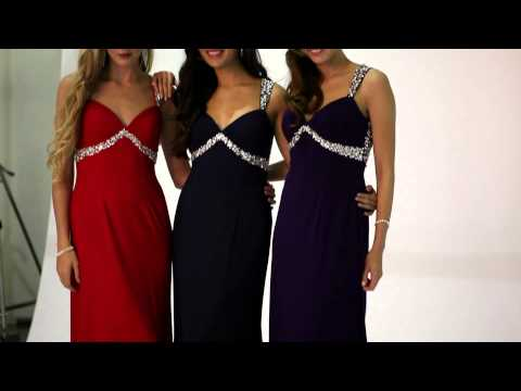 Tiffanys Illusion Prom Navy Sienna long jersey Prom Dress