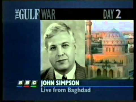 Gulf War: BBC Six O'Clock News 18 January 1991