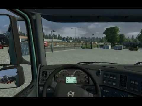 Euro Truck Simulator 2 учимся парковать прицеп