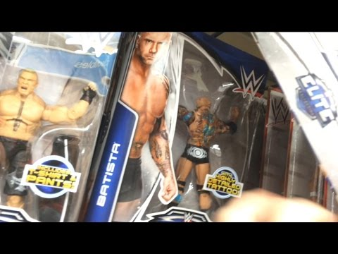 WWE Elites at TOYSRUS! Free BROCK LESNAR, Series 30, Batista, Ryback STORE AISLE REVIEW!