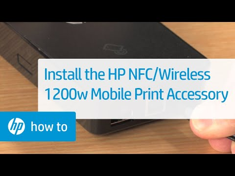 Installing the HP NFC/Wireless 1200w Mobile Print Accessory