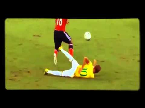 Neymar is out of the World Cup !! Falta de Juan Zúñiga a Neymar   Zúñiga Horror Fou