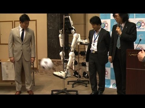 Japan robot firm showcases thought-controlled suits