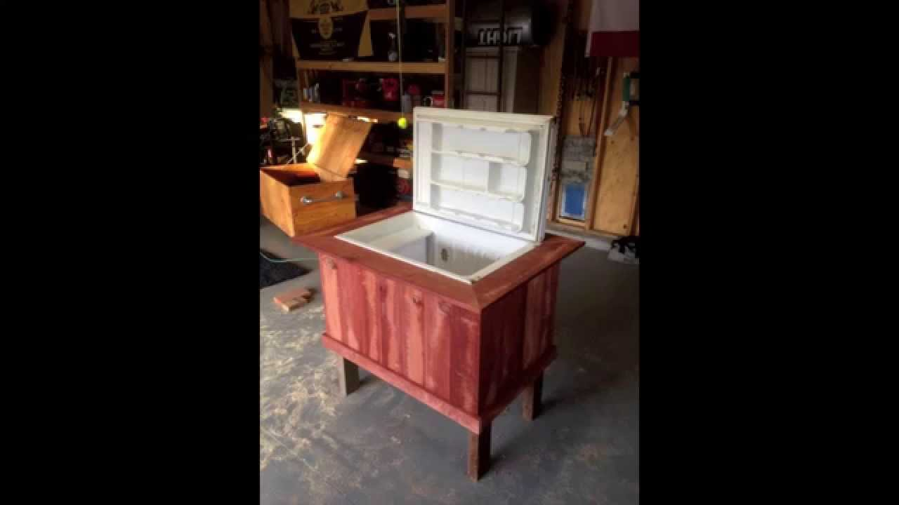 Diy How To Turn An Old Mini Fridge Refrigerator Into A