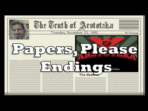 Papers, Please! Ending #2 (spoiler alert)