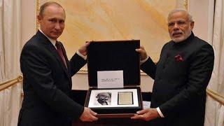 President Putin gifts PM Modi Gandhi's diary, 18th century sword