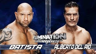 WWE Elimination Chamber 2014 Batista Vs Alberto Del Rio