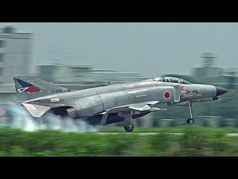 F-4 Phantom II Landing Runway 21L HYAKURI AIR BASE JASDF 2nd