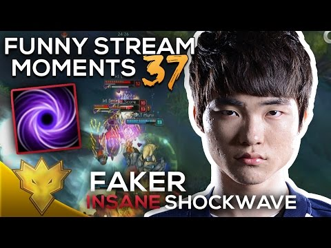 Faker INSANE 3000 ELO ORIANNA SHOCKWAVE! - League of Legends Funny Stream Moments #37