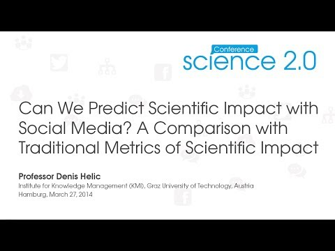 Science 2.0 Conference 2014: Talk Professor Denis Helic