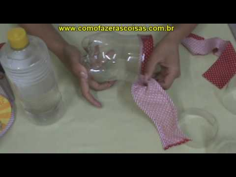 Como fazer uma cesta de garrafa pet - parte 4