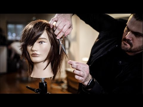 how to cut a long layered bob step by step