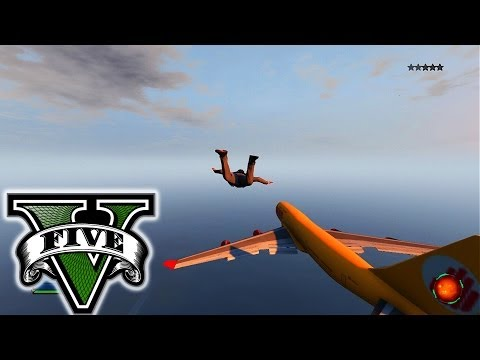 GTA 5 LANDING ON A JET! - GTA 5 DESTRUCTION! - Spending MILLIONS $$$ Grand Theft Auto 5