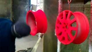[Powder Coating wheels like a BOSS Ral 3020 with pearlscent l...] Video