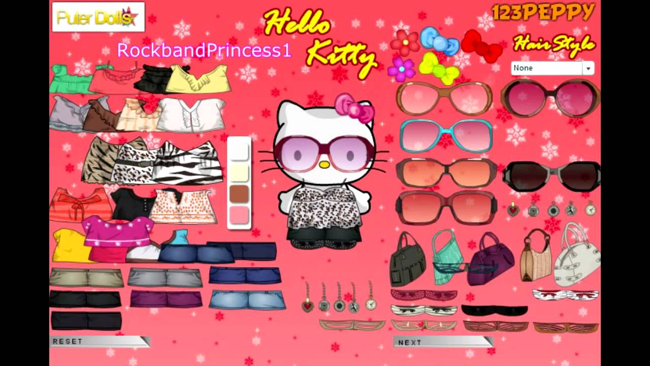 hello kitty online games hello kitty dress up game youtube. Black Bedroom Furniture Sets. Home Design Ideas