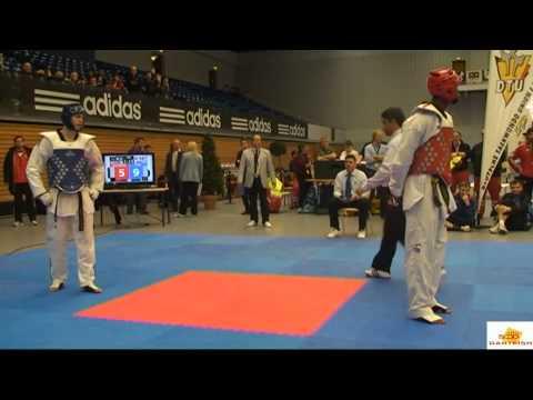Lutalo Muhammad v Aaron Cook at the 2012 German Taekwondo Open