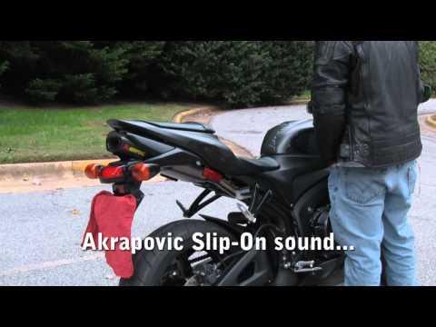CBR 600RR Akrapovic slip-on vs stock exhaust sound
