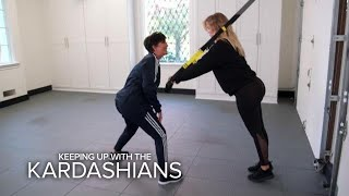 KUWTK | Kris Jenner Interferes With Pregnant Khloé's Workout | E!