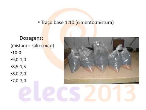 Tijolos de solo cimento-couro: caracterização física e mecânica de teores de misturas