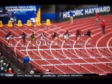 2014 NCAA TRACK & FIELD OUTDOOR CHAMPIONSHIPS OREGON's DEVON ALLEN MEN's 110M HURDLS