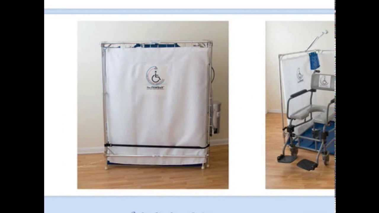 portable wheelchair showers for the disabled alternative to walk in bathtubs youtube. Black Bedroom Furniture Sets. Home Design Ideas