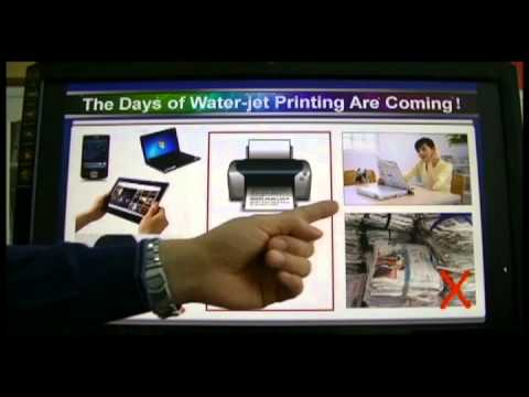 Printing with water instead of ink