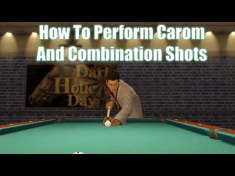 Yakuza 0 - Billiards Guide - How to Perform Carom and Combination Shots