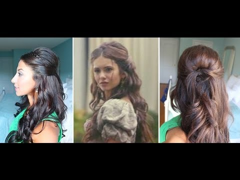 Nina Dobrev Inspired Hairstyle - YouTube
