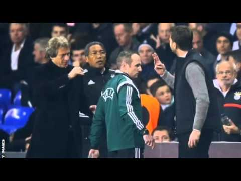 Tim Sherwood argument with benfica manager Jesus