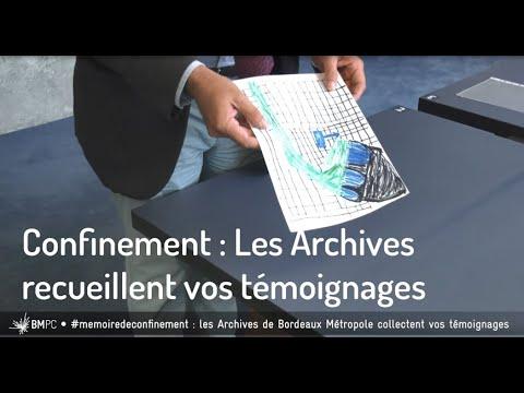 Confinement : les Archives de Bordeaux recueillent vos témoignages