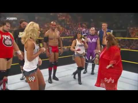 WWE NXT 08 03 10 Michelle McCool   Layla Hosts The Kissing Contest