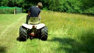 Haban Sickle Mower on Bolens 1476 Large Frame view on youtube.com tube online.